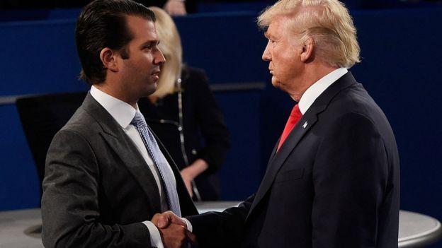 Trump Jr y Trump