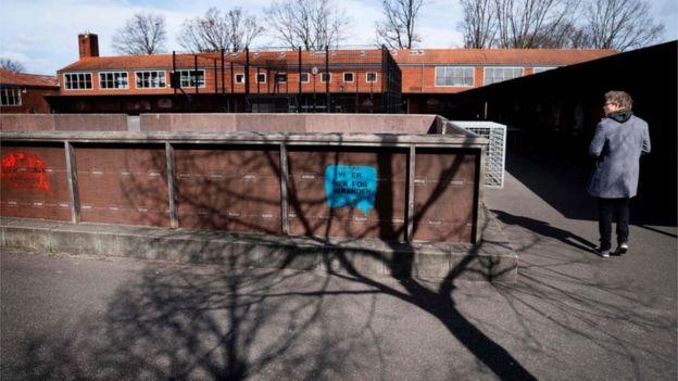 School principal Claus Moeller at Stengaard School in Gladsaxe, Denmark on 14 April