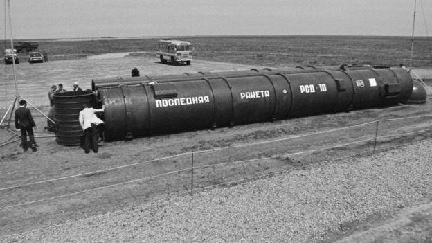 РСД-10 перед уничтожением