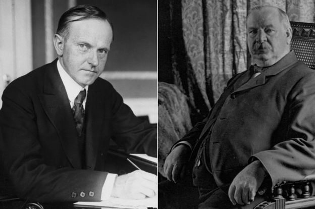 Calvin Coolidge y Grover Cleveland
