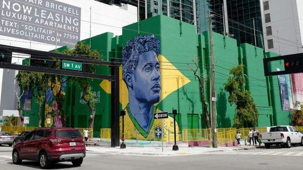 Mural de Neymar