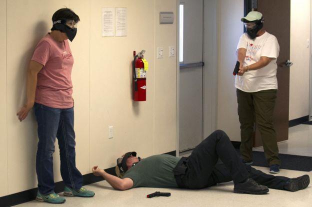 Teachers in Colorado on a training course