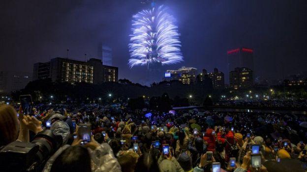 تایوان: آتش بازی در اطراف برج ۱۰۱ در تایپه