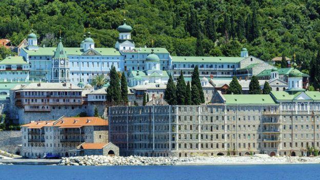 Russian Orthodox Saint Panteleimon monastery on Mount Athos