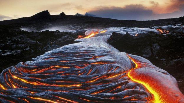 夏威夷的火山喷发