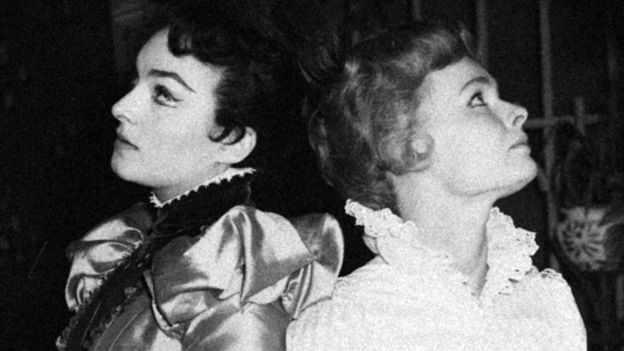 With Judi Dench (right) in The Importance of Being Earnest in 1959