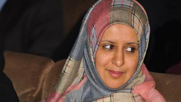 راضية المتوكل الناشطة في مجال حقوق الإنسان في اليمن.