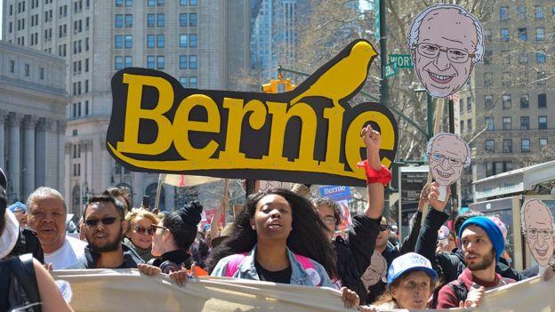 Partidarios de Bernie Sanders.