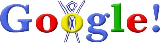 "first Google Doodle, referring to Google""s participation in the Burning Man Festival."