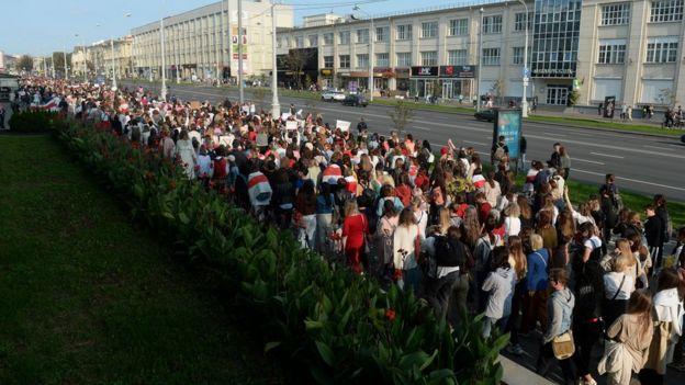 Марш женщин 12 сентября в Минске