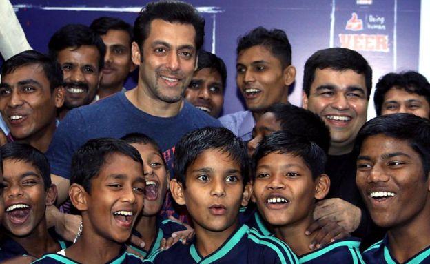 Salman Khan at a Being Human function
