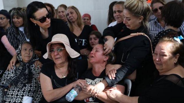 Funeral de Moshe Agadi, uno de los israelíes muertos este fin de semana.