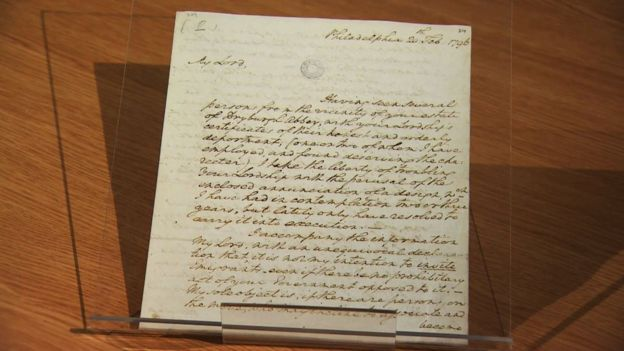 image of George Washington letter