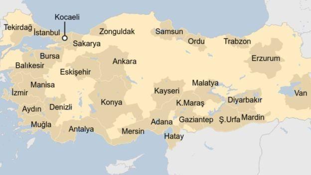 Türkiye'de sokağa çıkma yasağı ilan edilen iller