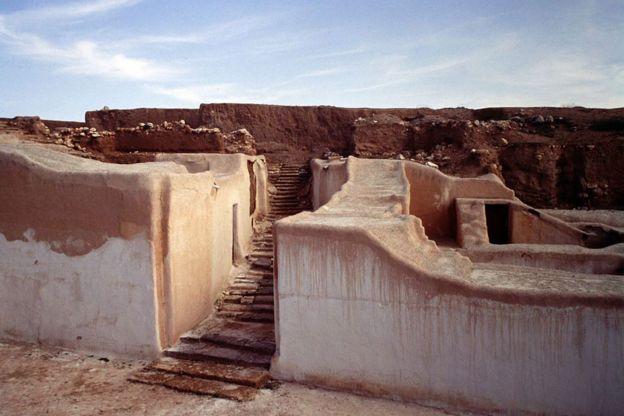 Ruinas de uno de los palacios