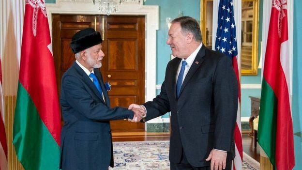 یوسف بن علوی هفته گذشته در سفر به واشنگتن با مایک پومپئو، وزیر امور خارجه آمریکا دیدار کرده بود