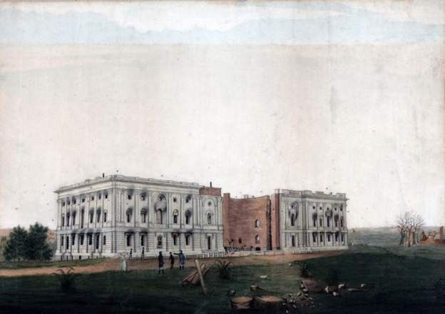 The ruins of the Capitol following the British attack