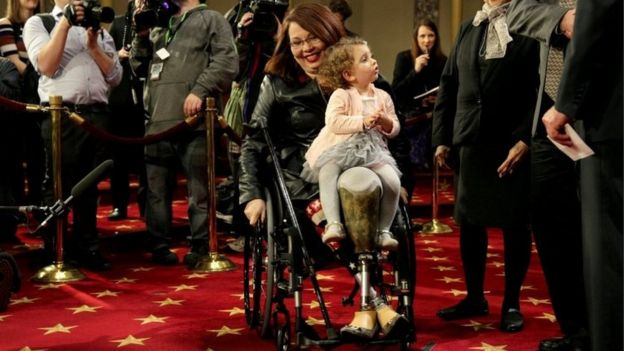 Duckworth and her daughter