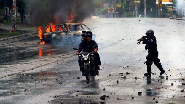 Protesta en Managua