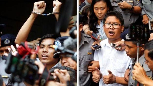 ராய்டர்ஸ் ஊடகவியலாளர்கள் இருவருக்கு 7 ஆண்டு சிறை