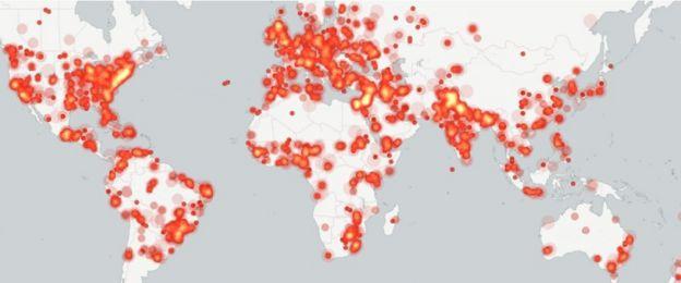 Mapa de protestas