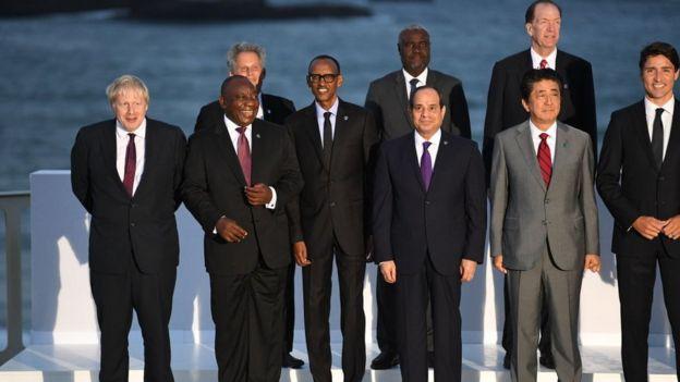 Les chefs d'États du Sénégal, du Burkina Faso, du Rwanda, de l'Afrique du Sud et de l'Egypte ont été conviés au G7.