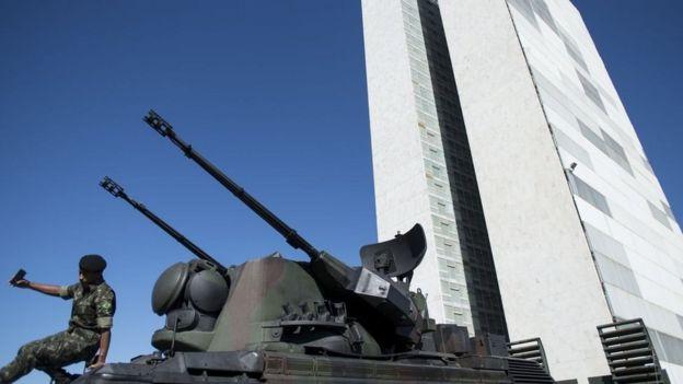 Tanque em Brasília