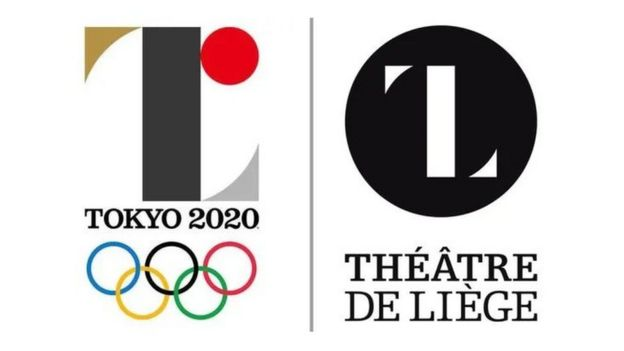 Tokyo 2020 old logo paired with the Theater de Liege