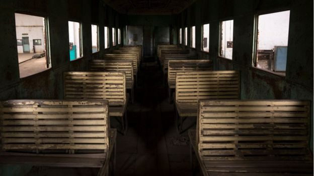 Inside Djibouti-Addis Ababa old train on January 12, 2014 in Dire Dawa, Ethiopia
