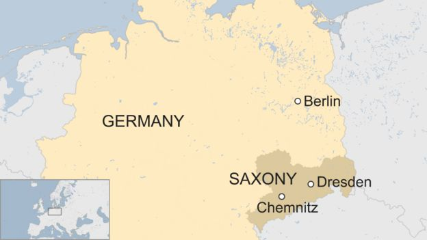 Map Of Germany Showing Dresden.Chemnitz Protests Far Right On March In East Germany Bbc News