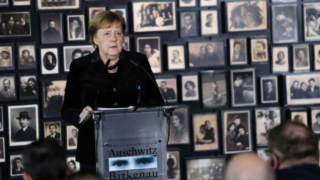 Angela Merkel in Auschwitz-Birkenau