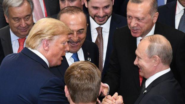 Trump, Erdoğan ve Putin, Japonya'da G20 zirvesinde bir aradaydı.