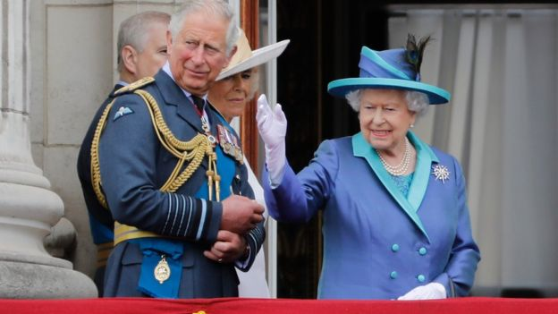 "The Queen called today ""a very special day"" and said the RAF's ""courage and sacrifice"" will never be forgotten"