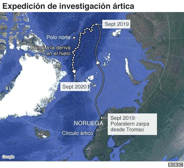 mapa ártico