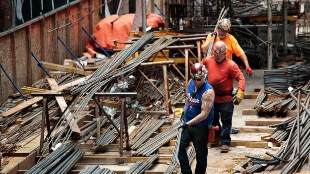 US construction workers