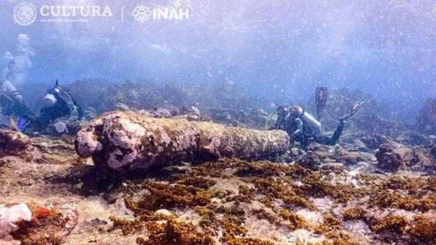 Археологи кажуть, що у місці, де знайшли гармату, дуже сильна течія