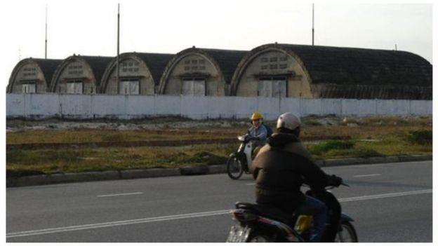 Một khu vực gần sân bay Nước Mặn của Đà Nẵng