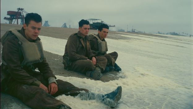 One Direction star Harry Styles in a scene from Dunkirk
