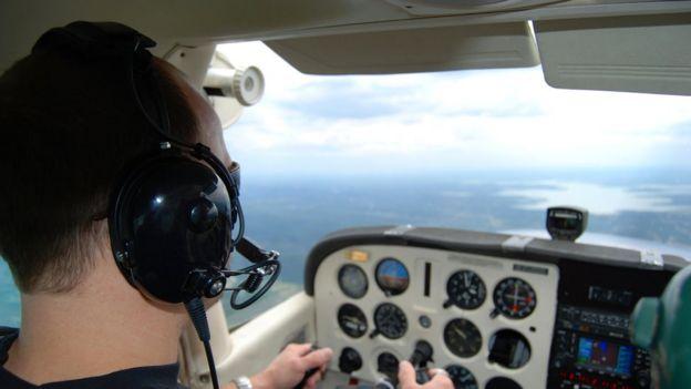 Piloto em treinamento