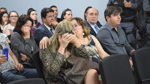 Na plateia, familiares e amigos se emocionaram durante júri popular