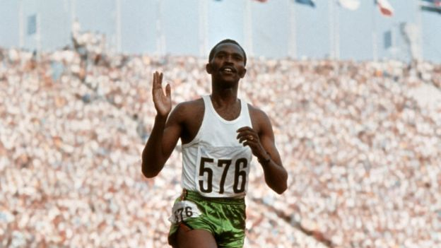 Kipchoge Keino competing in the 1972 Olympic Games in Munich