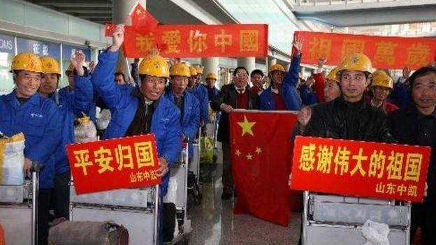2011年,中國從利比亞撤出3萬多公民,
