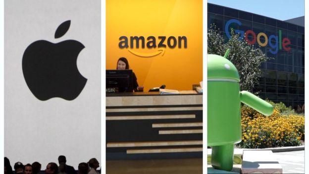 Imágenes de Apple, Amazon, Alphabet