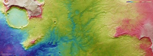 Топографічна карта Марса