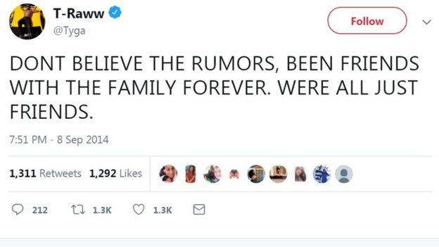 Tyga's tweet