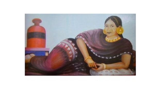 Pintura de Abdulaziz Farah de una novia, de 1950.