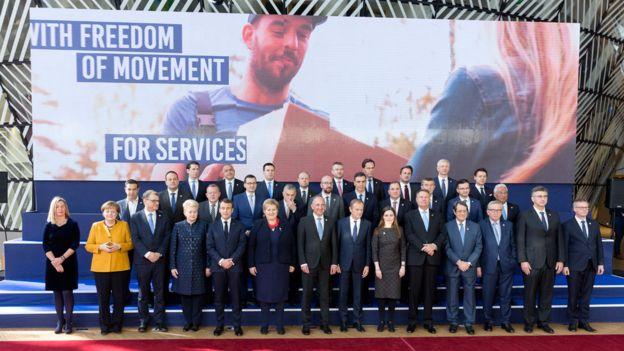 Los líderes de la UE reunidos en Bruselas el pasado viernes.