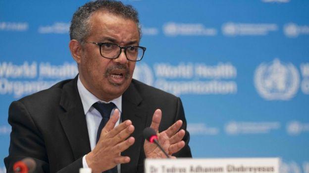 The WHO's Director-General, Tedros Adhanom Ghebreyesus