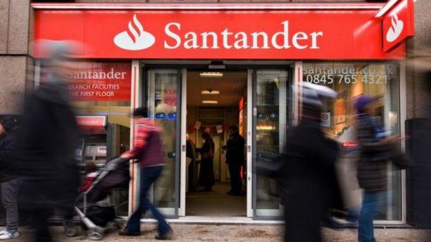Santander storefront