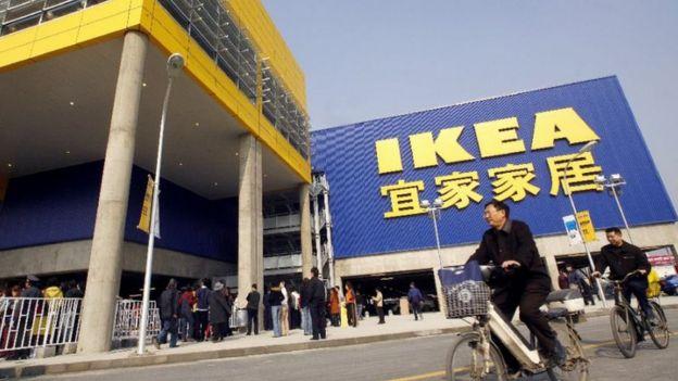 世界巨型家具商宜家在中国的店面
